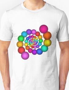 Beautiful Rainbow Sphere Spiral T-Shirt