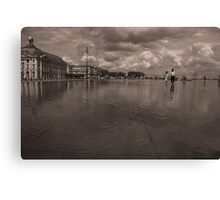 Water Mirror in Bordeaux Canvas Print