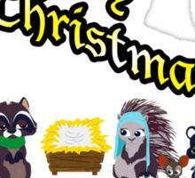 Woodland Critter Christmas Sticker