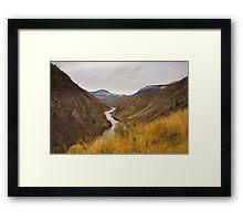 Lillooet Landscape Framed Print