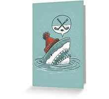 The Hockey Shark Greeting Card