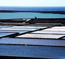 Salt Flats Lanzarote Spain by Franglais