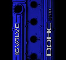 Mitsubishi Valve Cover 4G63 Blue (iPhone) by Hector Flores