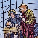 Stained glass nativity by Dan Wagner