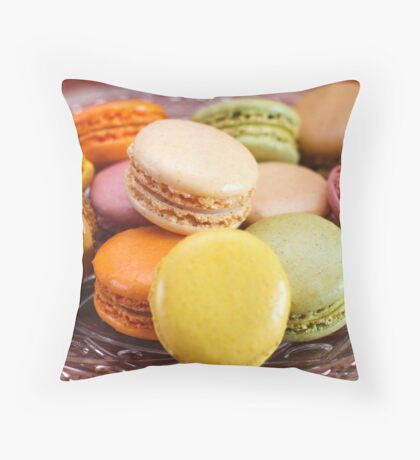 French Macaroons for Dessert Throw Pillow