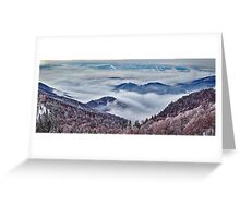 Mountain winter landscape Greeting Card