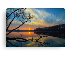 Blue Sky over Her Canvas Print