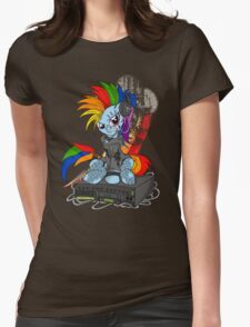 Rainbow PonyROCK Womens Fitted T-Shirt