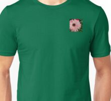 Square Framed Pink Daisy Unisex T-Shirt