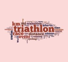 Triathlon Word Map Kids Clothes