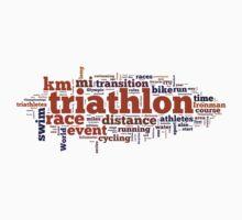 Triathlon Word Map by mile24