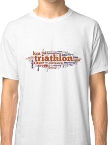 Triathlon Word Map Classic T-Shirt