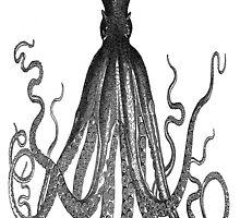 Majestic Retro Octopus by Cheatahgirl54