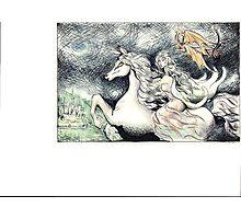 Riding the Elf Horse Photographic Print
