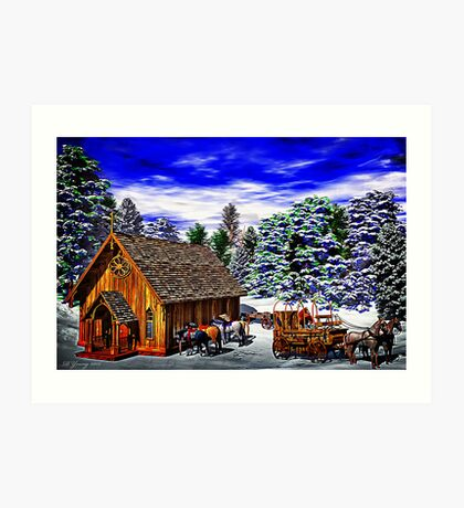 Christmas Then Art Print