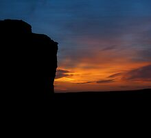 Monument Rocks at Sunset by adastraimages