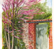 Judas Tree at Giverny, France by Dai Wynn