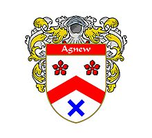 Agnew Coat of Arms/Family Crest Photographic Print