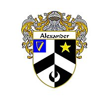 Alexander Coat of Arms/Family Crest Photographic Print