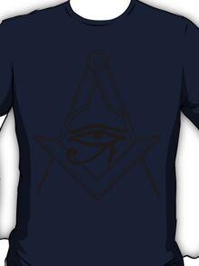 Illuminati Eye Masonic Compass Symbol T-Shirt