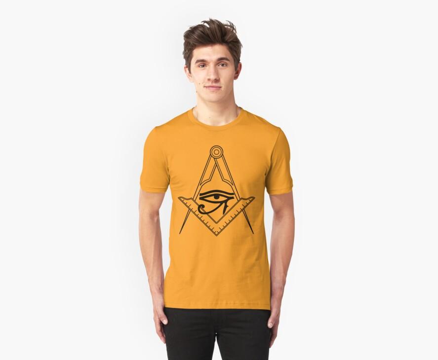 Illuminati Eye Masonic Compass Symbol by FreshThreadShop