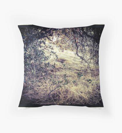 Den in the Bramble Throw Pillow