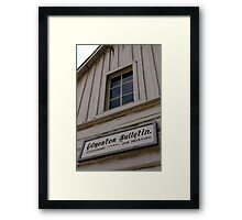 Edmonton Bulletin Framed Print