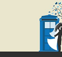 TARDIS Wedding Card by Tiarra J.