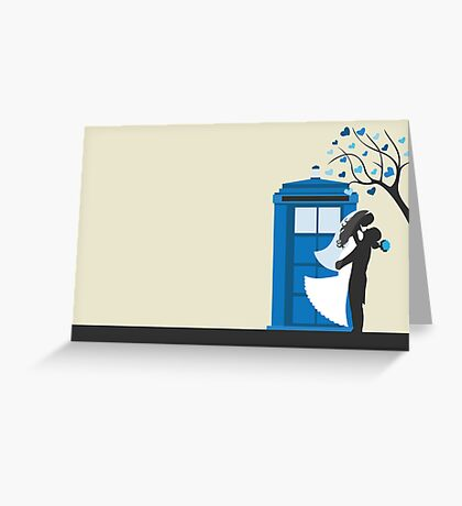 TARDIS Wedding Card Greeting Card