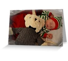 """""""Teddy and me"""" Greeting Card"""