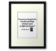 Light the Flame Framed Print