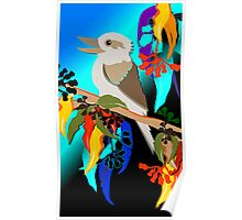 Kookaburra Sits 6 Poster