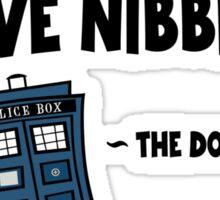 Nibbles.  I Love Nibbles. Sticker