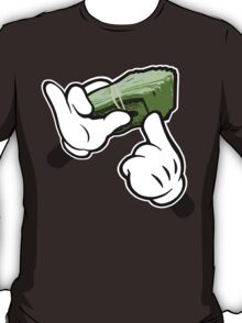 Make It Rain Cartoon Hands (Ghetto Fat Stack) T-Shirt