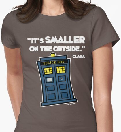 Smaller on the Outside (2) Womens Fitted T-Shirt
