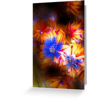 Surreal Flowers Greeting Card