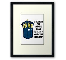 50 Years, 13 Doctors Framed Print