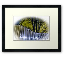 Yellow Steel Framed Print