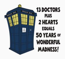 50 Years, 13 Doctors One Piece - Short Sleeve