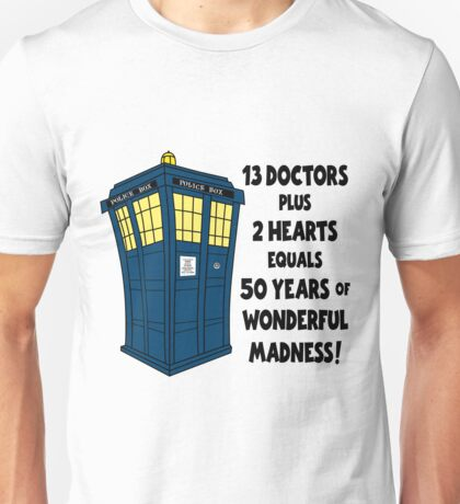50 Years, 13 Doctors Unisex T-Shirt