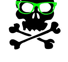 Nerd Skull And Crossbones by kwg2200