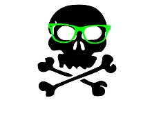 Nerd Skull And Crossbones Photographic Print