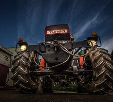 Tractor and Gas Station by TOM KLAUSZ