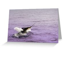 Marlin - Deep-sea series 3 Greeting Card