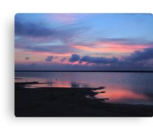 Blues and Pinks Sky Canvas Print