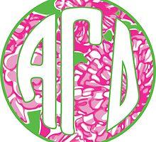 ΑΓΔ Pink Monogram by embati