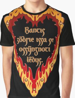 The Night is Dark and Full of Terrors (Valyrian) Graphic T-Shirt