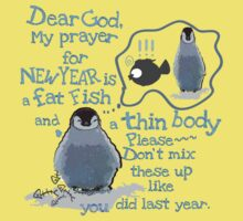 Baby penguin's funny New Year's resolution Kids Clothes
