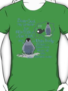 Baby penguin's funny New Year's resolution T-Shirt