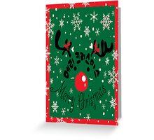 Merry Christmas reindeer Greeting Card